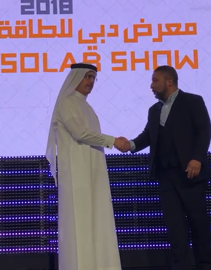 Abdoul Benamer at the Dubai Solar Show IFFEN WETEX